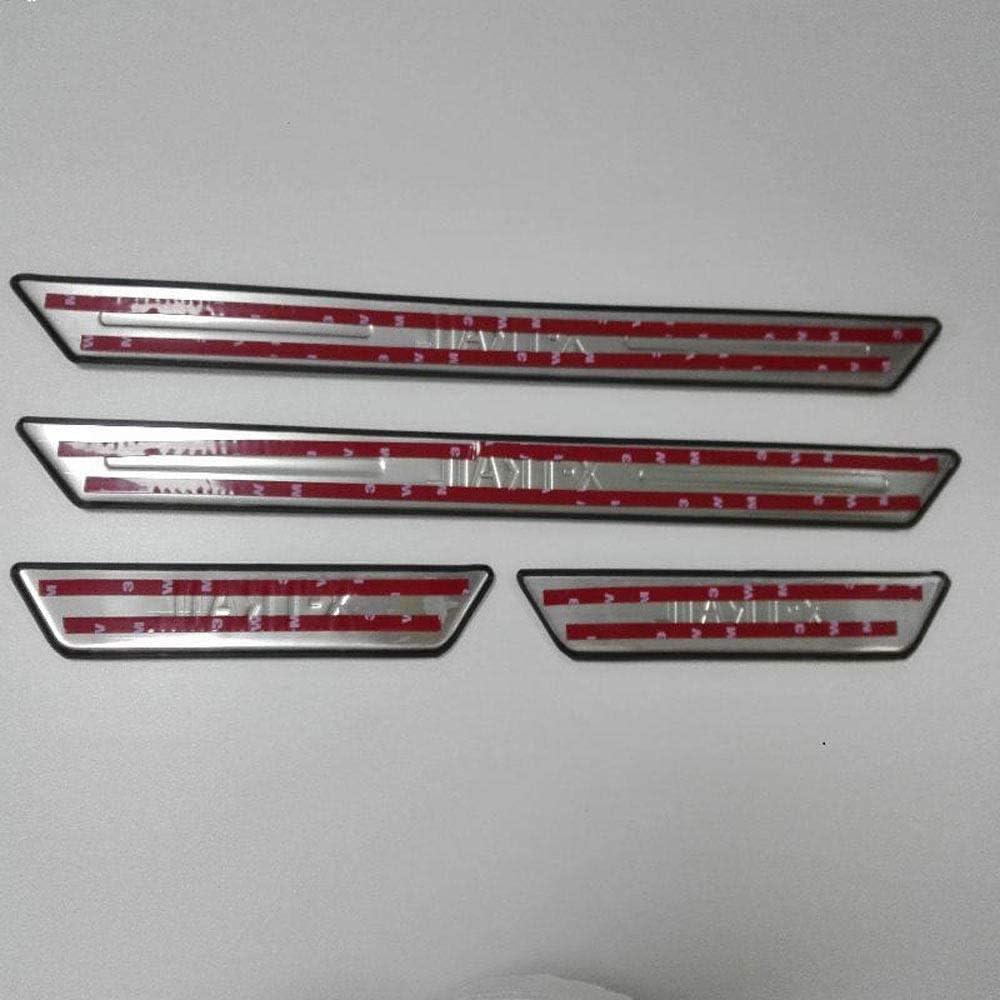 Trittplatten Pedal Scuff Styling Aufkleber Schwelle Abdeckung Schutzleiste Edelstahl HYNB 4 St/ücke Auto Einstiegsleisten F/ür Nissan X-Trail X Trail T31 2009-2013