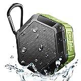 Altavoz Bluetooth resistente al agua IPX67, EFFE Altavoces portátiles inalámbricos para ducha al aire libre con ranura para tarjeta TF, Micrófono incorporado, Audio HD, Bajos mejorados, Bluetooth 4.2, A prueba de golpes, A prueba de polvo, Pares con todos los dispositivos Bluetooth, Verde