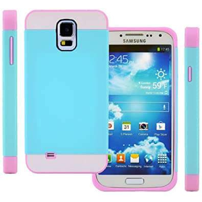 Semoss Funda de tpu silicona mezcla broche de presión en funda Carcasa rígida para Samsung Galaxy S5