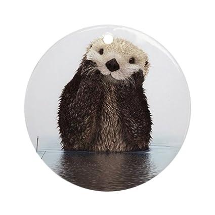 Amazon.com: CafePress - Bashful Sea Otter Ornament (Round) - Round ...