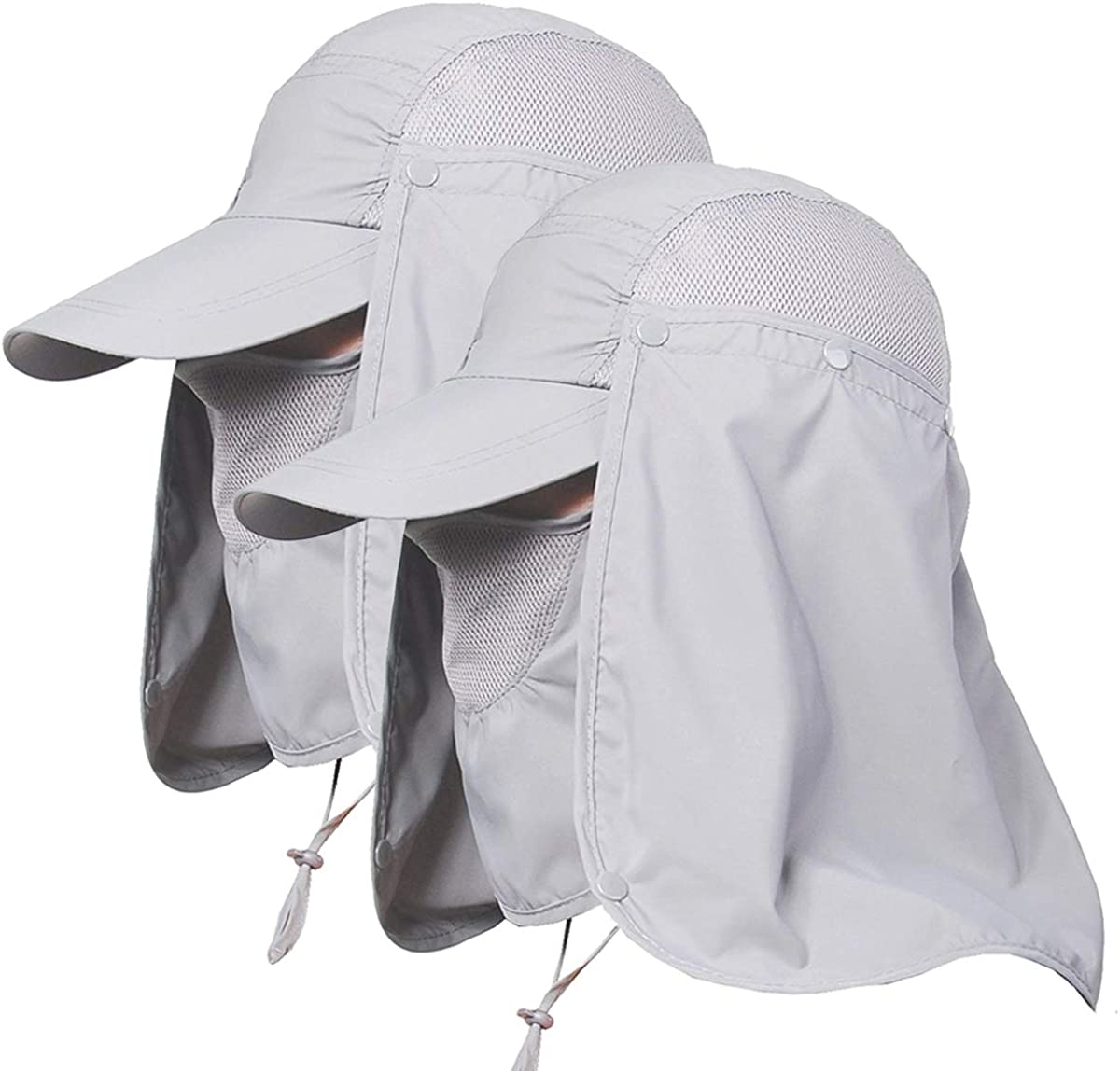 Hiking Fishing Wide Brim Hat Outdoor Sport Sun UV Protection Neck Face Flap Cap