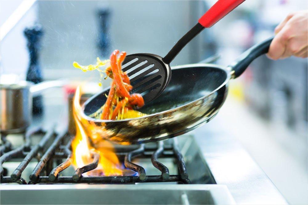 Fish Turner TENTA Kitchen Spatule pour po/êle /à Frire Flexible pour Poisson///œufs//Viande//boulette
