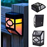 Set of 4 Solar Powered Mount Lights LED Solar Garden Lights Metal Lamp Waterproof Outdoor Decorative Landscape Warm Lighting