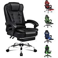 ALFORDSON Executive Office Chair High Back Ergonomic Computer Gaming Desk Chair with Footrest PU Leather Video Game…