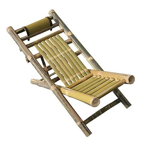 JU FU tumbona Silla de bambú silla plegable silla de bambú ...