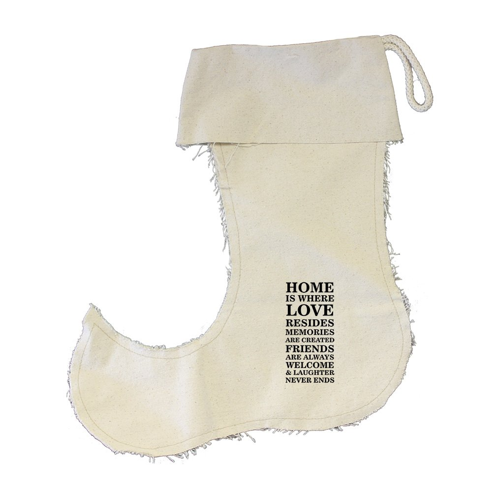 Home Is Where Love Resides Cotton Canvas Stocking Jester - Small