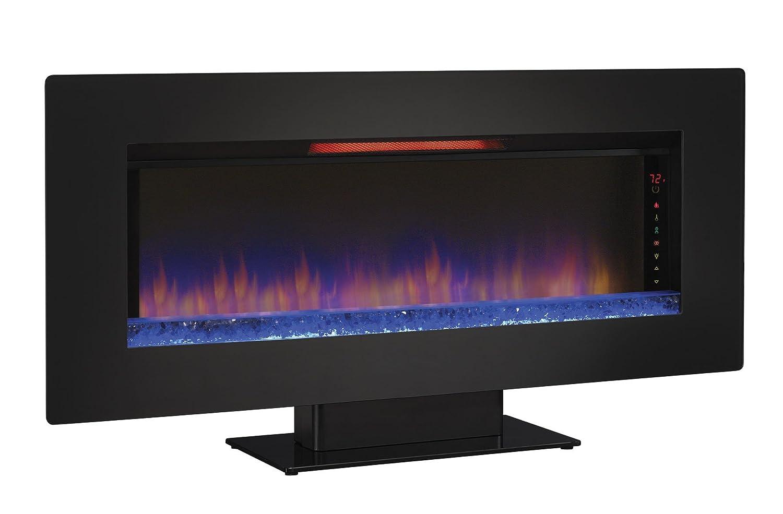 ClassicFlame 36II100GRG Elysium 36 Wall Mounted Infrared Quartz Fireplace Black Glass Frame