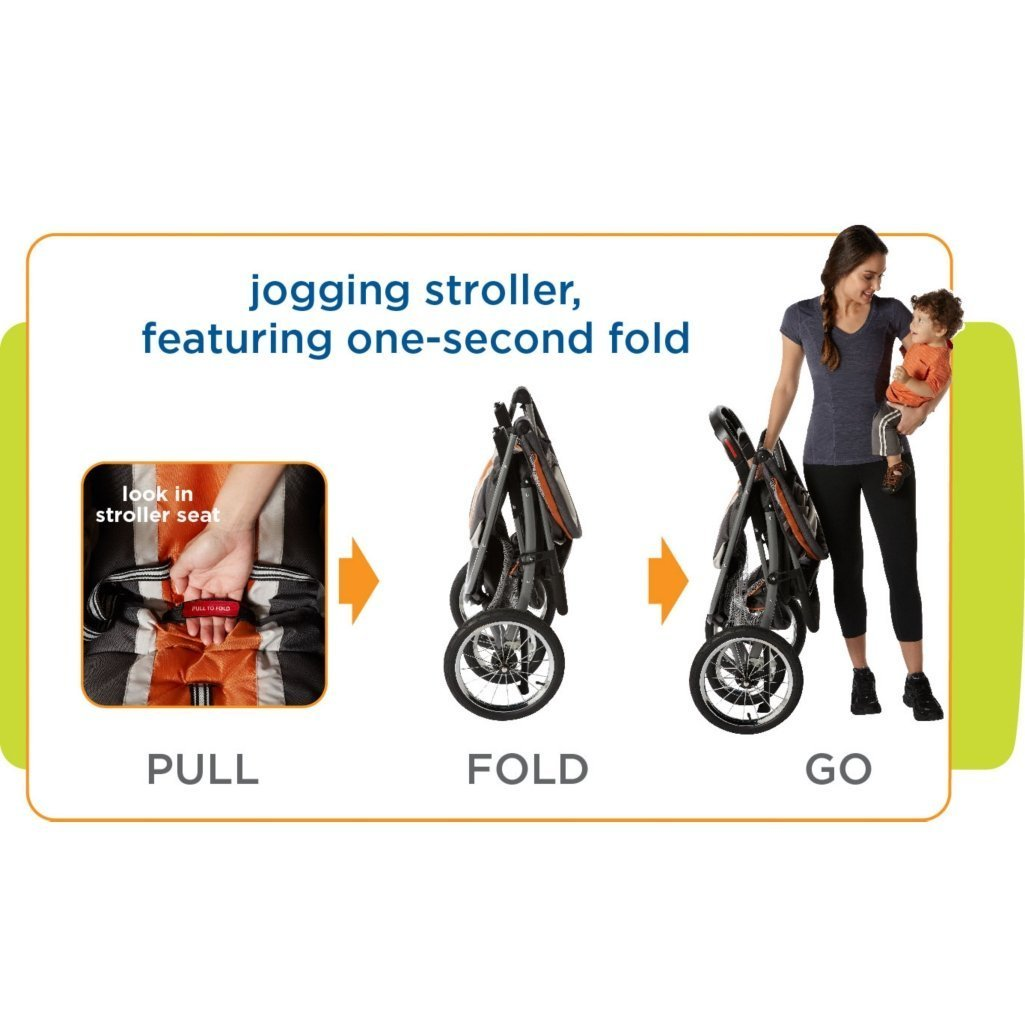 Graco Fastaction Fold Jogger Click Connect Stroller, Gotham by Graco (Image #9)
