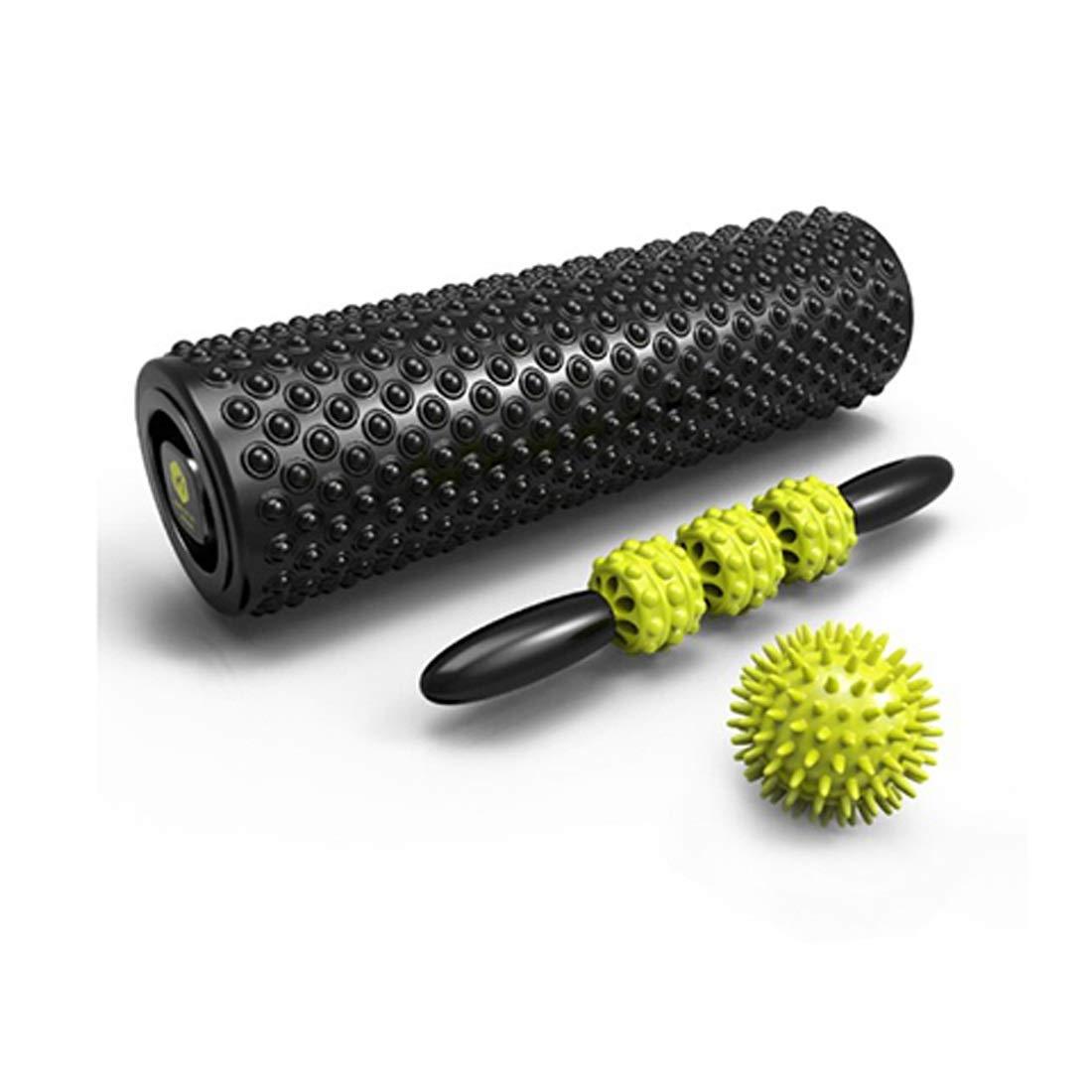 KERVINJESSIE Fitness Equipment Floating-Point Massage Rod Yoga Column Roller (Color : Black)