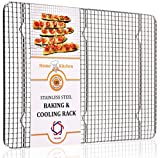 Product review for Hexada Stainless Steel Non-Stick Cooling and Baking Rack - 16.5 X 11.5 Inch