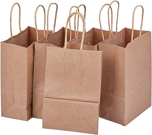 BENECREAT 30 Pack Bolsas de Regalo de Papel Kraft con Asas Compras ...
