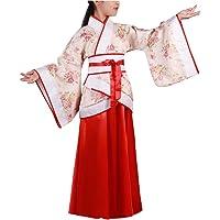 Yudesun Antiguo Chino Royal Bata - Niñas Princesa Tang Dinastía Hanfu Flor Escuela Baile Actividades Cosplay Fiesta Retro Folk Disfraz