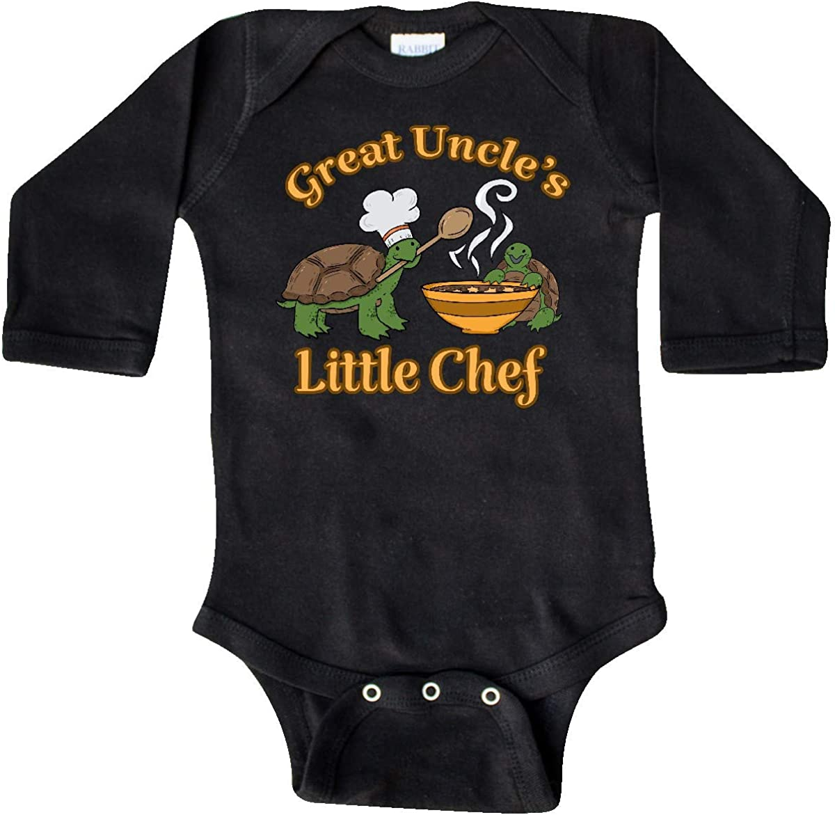 inktastic Great Uncles Little Chef with Cute Turtles Long Sleeve Creeper