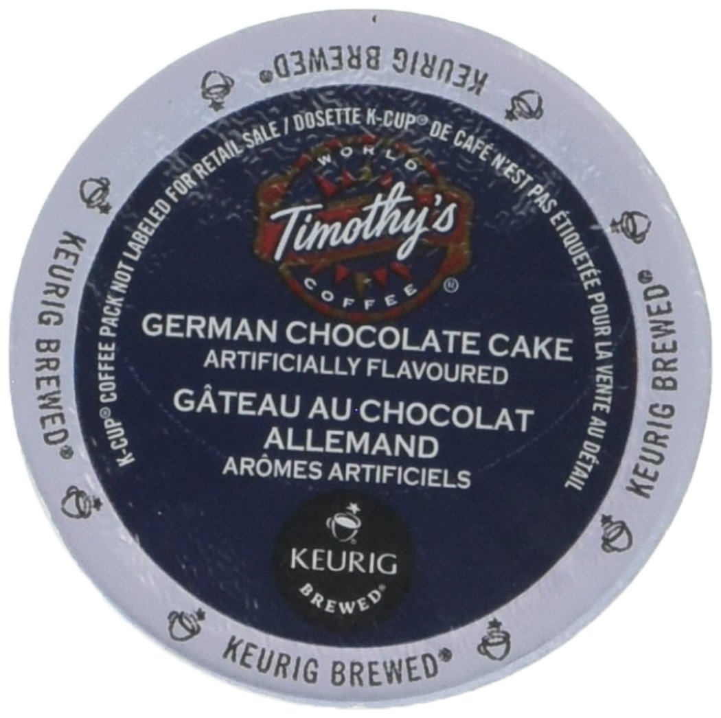 Timothy/'s German Chocolate Cake Flavored Coffee 1 Box of 24 K-Cups