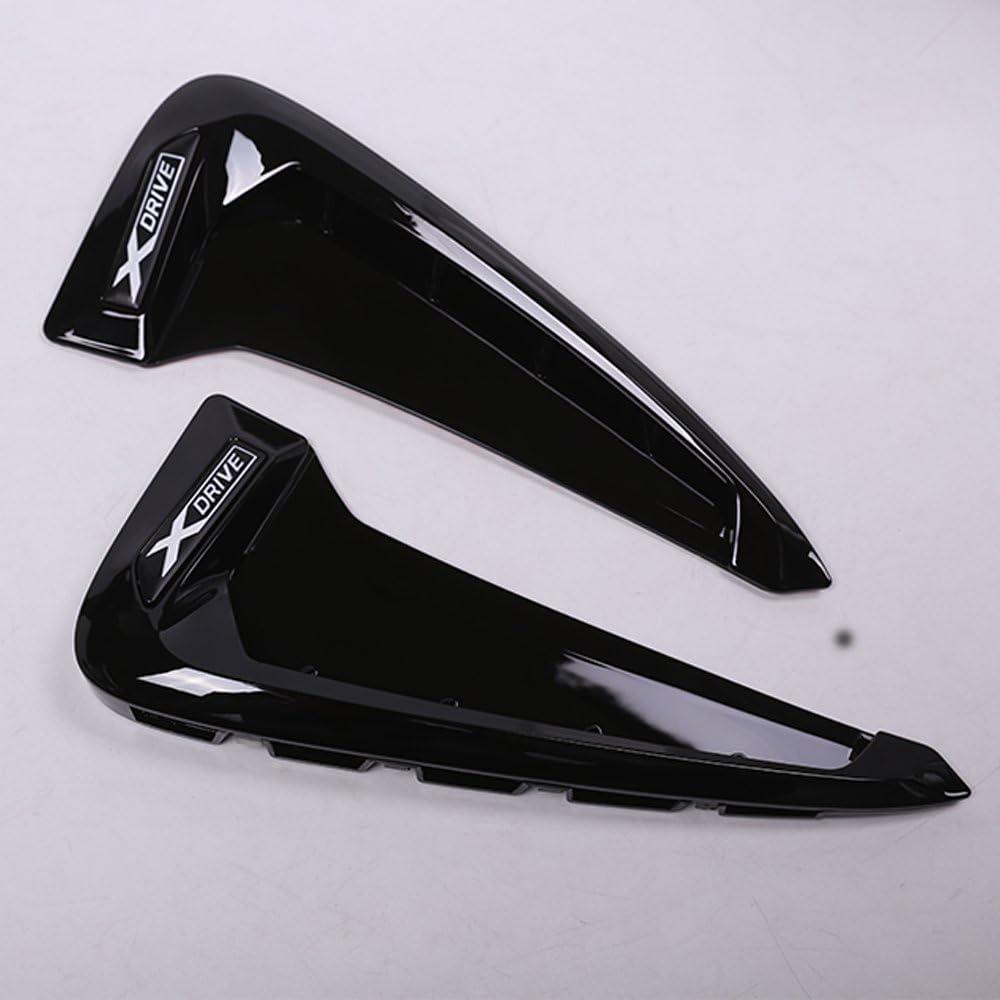 2/x ABS Auto Front Fender Seite Air Vent Cover Trim f/ür X Serie X5/F15/x5/m F85/Shark Kiemen Seite Vent KFZ Aufkleber Zubeh/ör
