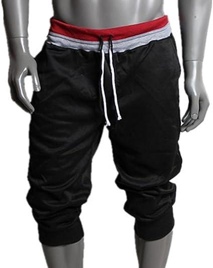 Pantalones Cortos Hombre, Pantalones de chándal de Hombre Pantalones Deportivos para Hombres Pantalones Cortos Harem niño Pantalón de Baile Pantalones ...