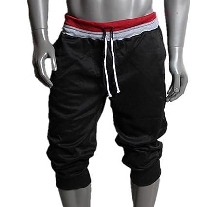 Pantalón para hombre,Longra ★ Pantalones cortos de los hombres de la moda Pantalones cortos de algodón Gimnasio Pantalones…