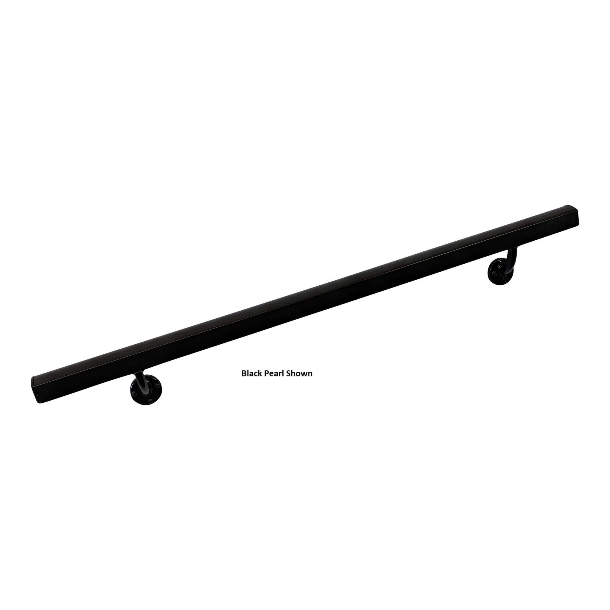 Aluminum Handrail Direct AHR 4' Handrail Section with mounts - White