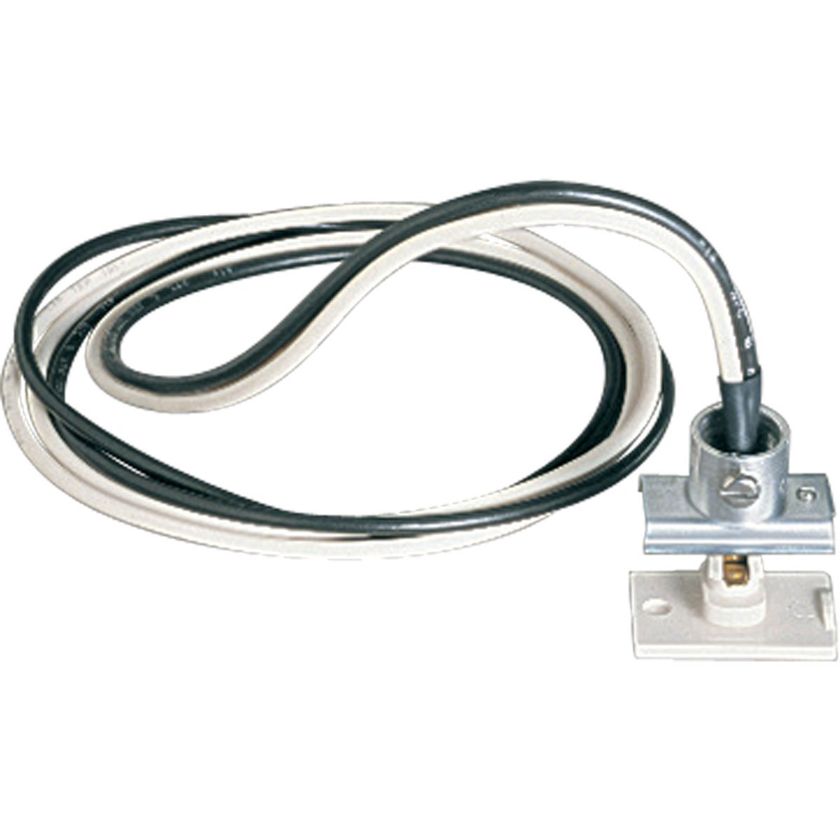 Progress Lighting P9121-28 Anywhere Power Feed with 3/8-Inch Greenfield Connector, Bright White