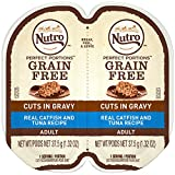 Cheap Nutro Perfect PORTIONS Cuts in Gravy Real Catfish and Tuna Wet Cat Food Trays 2.65 Ounces (24 Twin Packs)