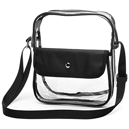 f23b82237b16 Clear Purse, F-color Stadium Approved Clear Bag for BTS Concert, NFL ...