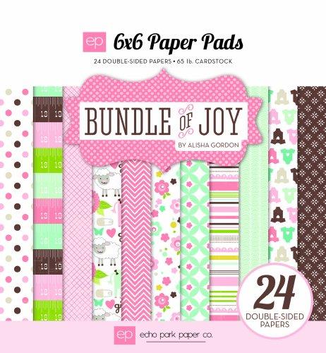 Echo Park Paper BJG45023 Bundle of Joy Girl Paper Pad, 6 by 6-Inch ()