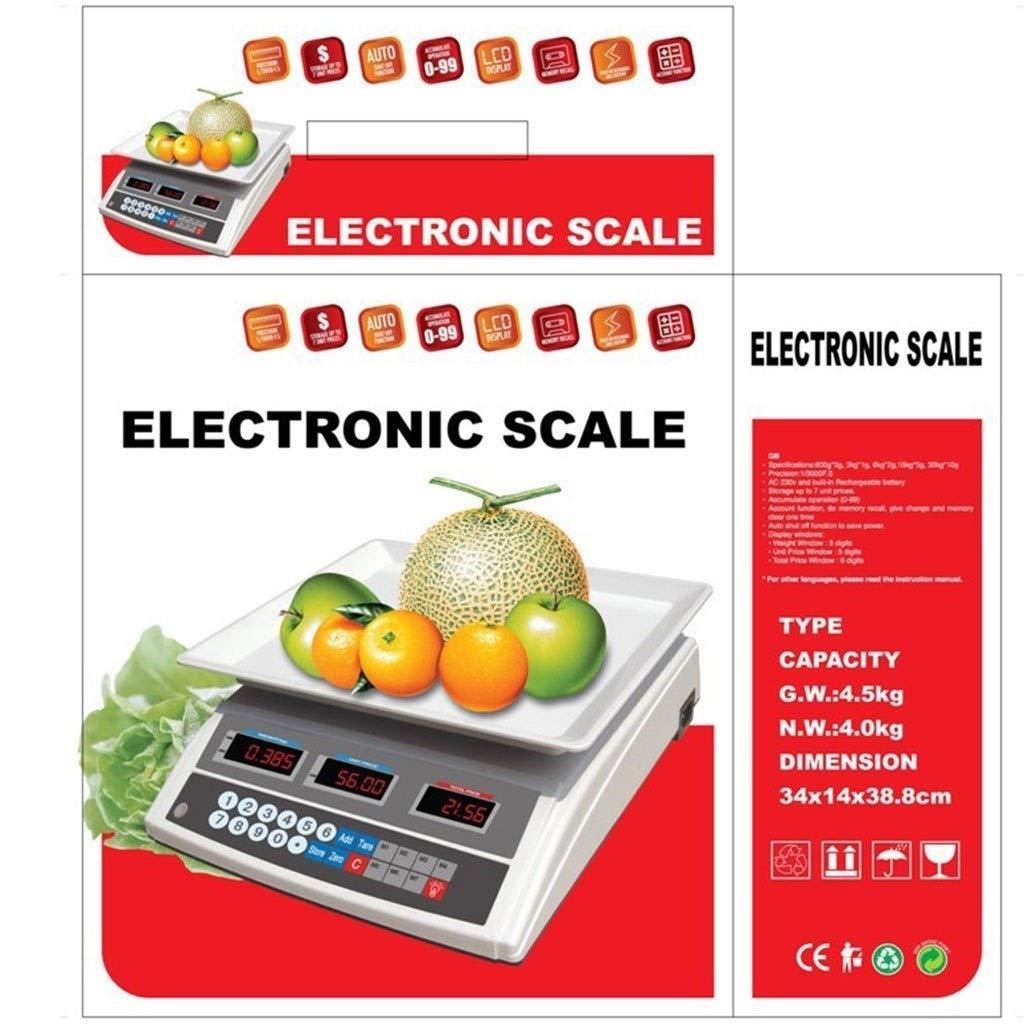 MZP 30kg/5g Básculas de Electrónico Cocina, Digital Precio ...