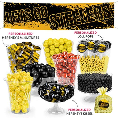 Steelers Themed Deluxe Candy Buffet - Black and Yellow