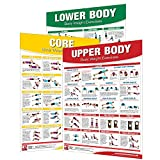 Laminated Bodyweight Workout Set of Posters/Charts - Bodyweight...