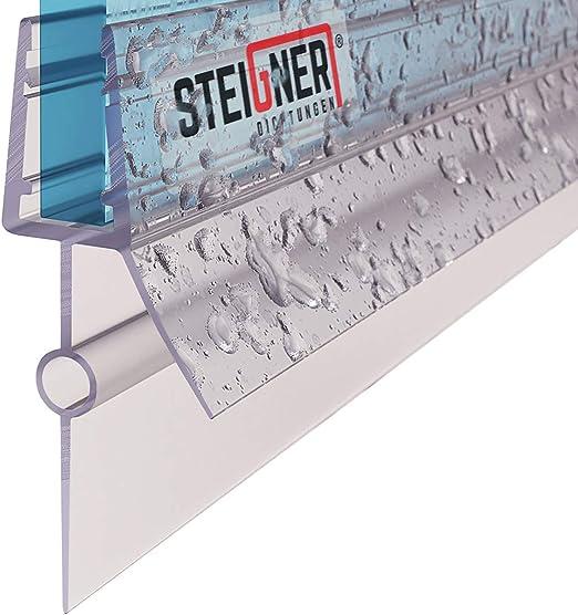 STEIGNER Duschdichtung UK21 Gerade PVC Ersatzdichtung f/ür Dusche Glasst/ärke 3,5// 4// 5// 6// 7 mm 90cm