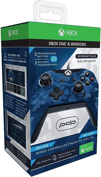 Mando-Deluxe-con-Cable-para-Xbox-One-Azul: Amazon.es: Electrónica
