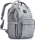 Baby : KiddyCare Diaper Bag Backpack - Multi-Function Waterproof Maternity Nappy Bags for Travel with Baby - Large Capacity, Durable and Stylish, Gray