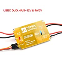 Matek Systems UBEC Duo FPV Dual BEC UBEC 4A 5V - 12V Output Support 7 - 26V Input with Remote Switch for FPV RC Quadcopter Drone by LITEBEE
