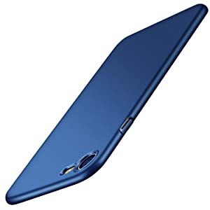 TORRAS Slim Fit iPhone 8 Case/iPhone 7 Case, Hard Plastic Full Protective Anti-Scratch Resistant Cover Case Compatible with iPhone 7 (2016)/iPhone 8 (2017), Navy Blue