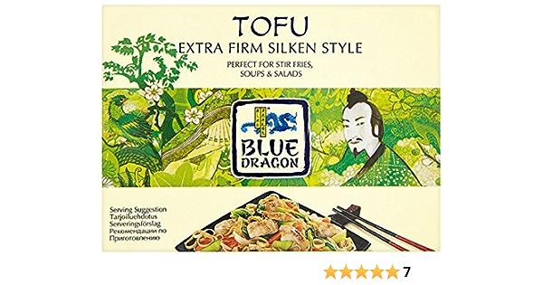 Paquete de 2 unidades – Blue Dragon – Tofu de seda extra firme | 349 g | paquete de 2