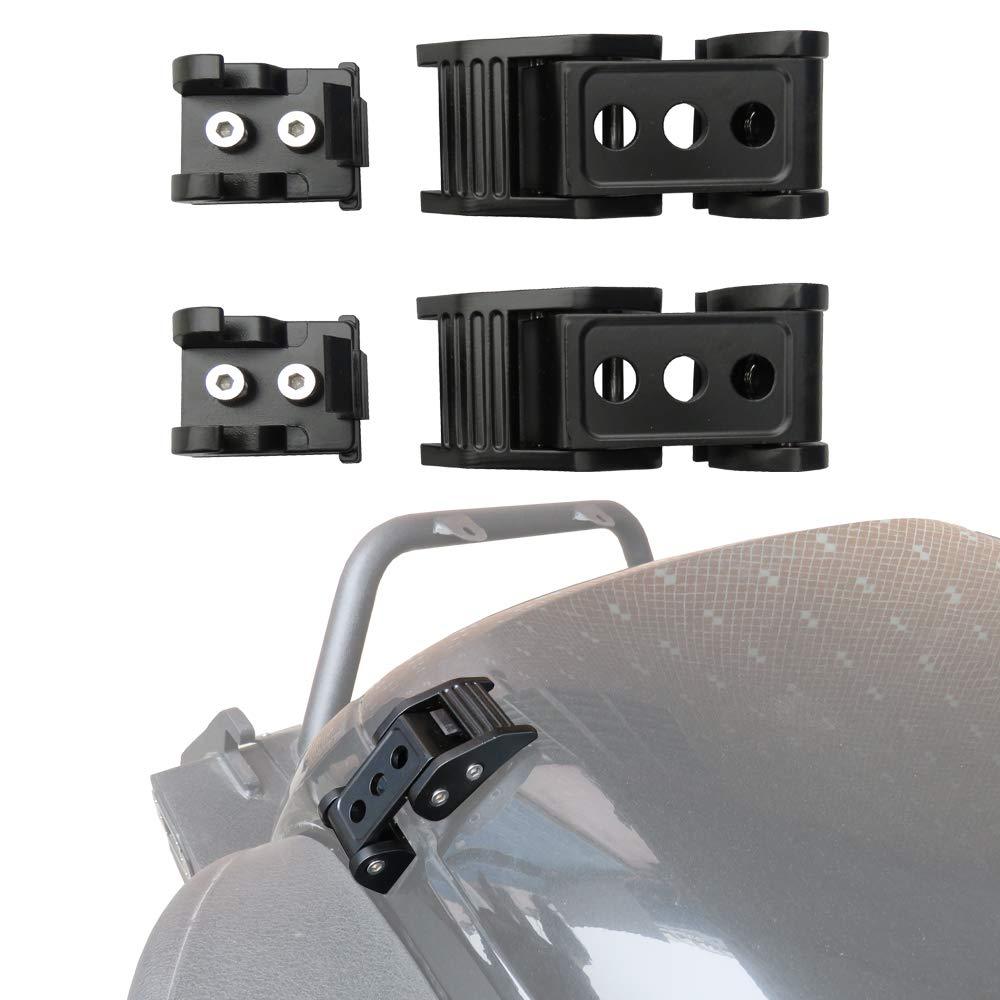 Vijay Stainless Steel Black Latch Locking Hood Catch Kit for Jeep Wrangler JK Unlimited Accessories 2 Door 4 Door 2007-2017 Pair Hood Lock