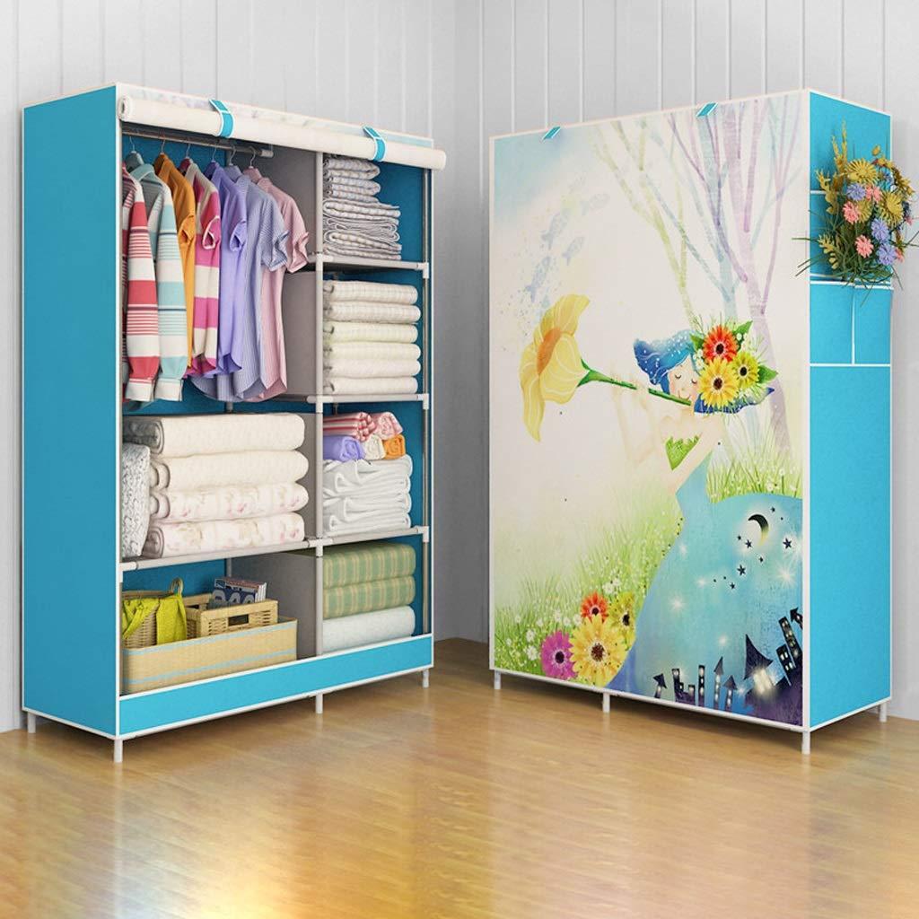 Hai Yan Boutique Cloth Wardrobe Cloth Wardrobe Fabric Wardrobe Assembly Storage Clothes Coat Rack Hanger (Color : C) by Hai Yan
