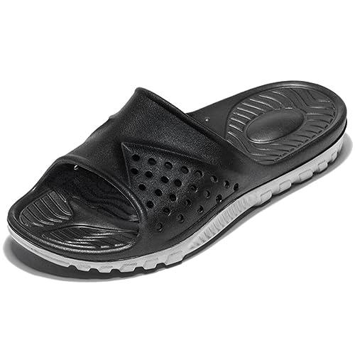 47caa59c674d WODEBUY Men s Shower Sandals Antislip Fast Dry Flilp Flop Flats Beach Pool  Shower Size 7 (