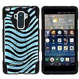 MINITURTLE Case Compatible w/LG G Stylo LS770 Phone Case, Durable Hybrid Shock Impact Stand Case w/Art Pattern Designs for LG G Stylo LS770, H631, MS631, LG G4 Stylus Blue Zebra