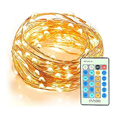 Starry String Lights, 33ft 100 LEDs String Lights with Remote Control, InnooLight Waterproof Indoor Decorative Christmas Lights for Bedroom, Garden, Patio, Party, Wedding (Warm White)