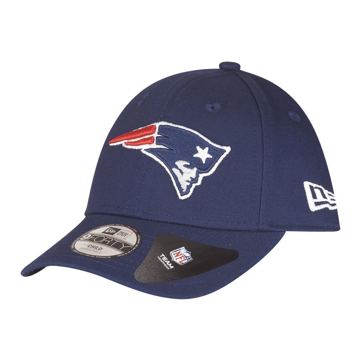New Era Hats Kids 9FORTY New England Patriots Baseball Cap - Navy Blue