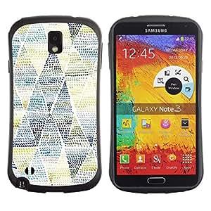 """Pulsar iFace Series Tpu silicona Carcasa Funda Case para Samsung Note 3 , Patrón de arte Azul Amarillo"""""""