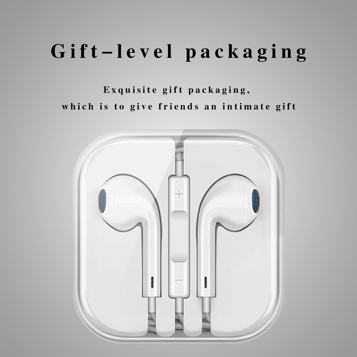 Cafetec - [2 Pack][White][Premium Earbuds][Stereo Headphones][Noise Isolating][Headset Made] - Earphones Microphone - (Model iPhone iPod iPad) by Cafetec (Image #6)