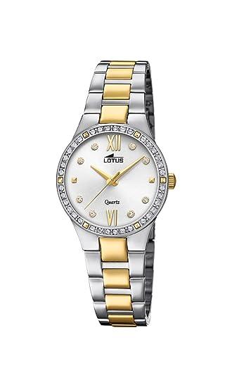 Lotus Watches Reloj Análogo clásico para Mujer de Cuarzo con Correa en Acero Inoxidable 18461/1: Lotus: Amazon.es: Relojes