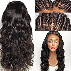 Eversilky Hair 13x6 Lace Front Wigs Human Hair Pre Plucked Natural Hairline 150% Density Peruvian 13x6 Lace Frontal Wigs For Black Women Wavy Wig 18 Inches