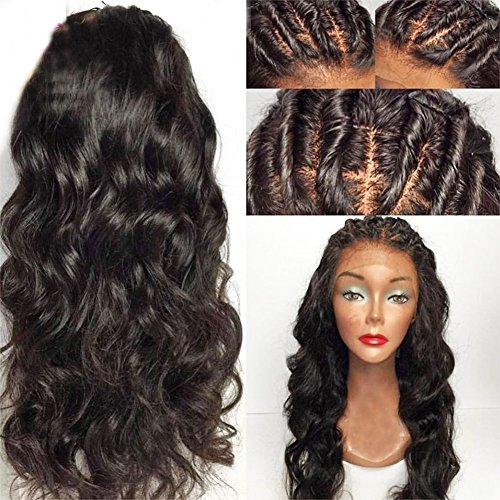 Eversilky Hair 13x6 Lace Front Wigs Human Hair Pre Plucked Natural Hairline 150% Density Peruvian 13x6 Lace Frontal Wigs For Black Women Wavy Wig 18 Inches - Front Blended Chino Shorts