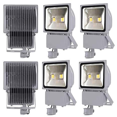 Leetop 6X 100W Blanco Frío LED Foco Proyector Luz, Foco Proyector ...