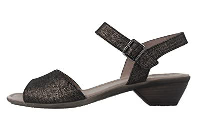 GABOR Damen Sandaletten Schwarz Metallic Schuhe in