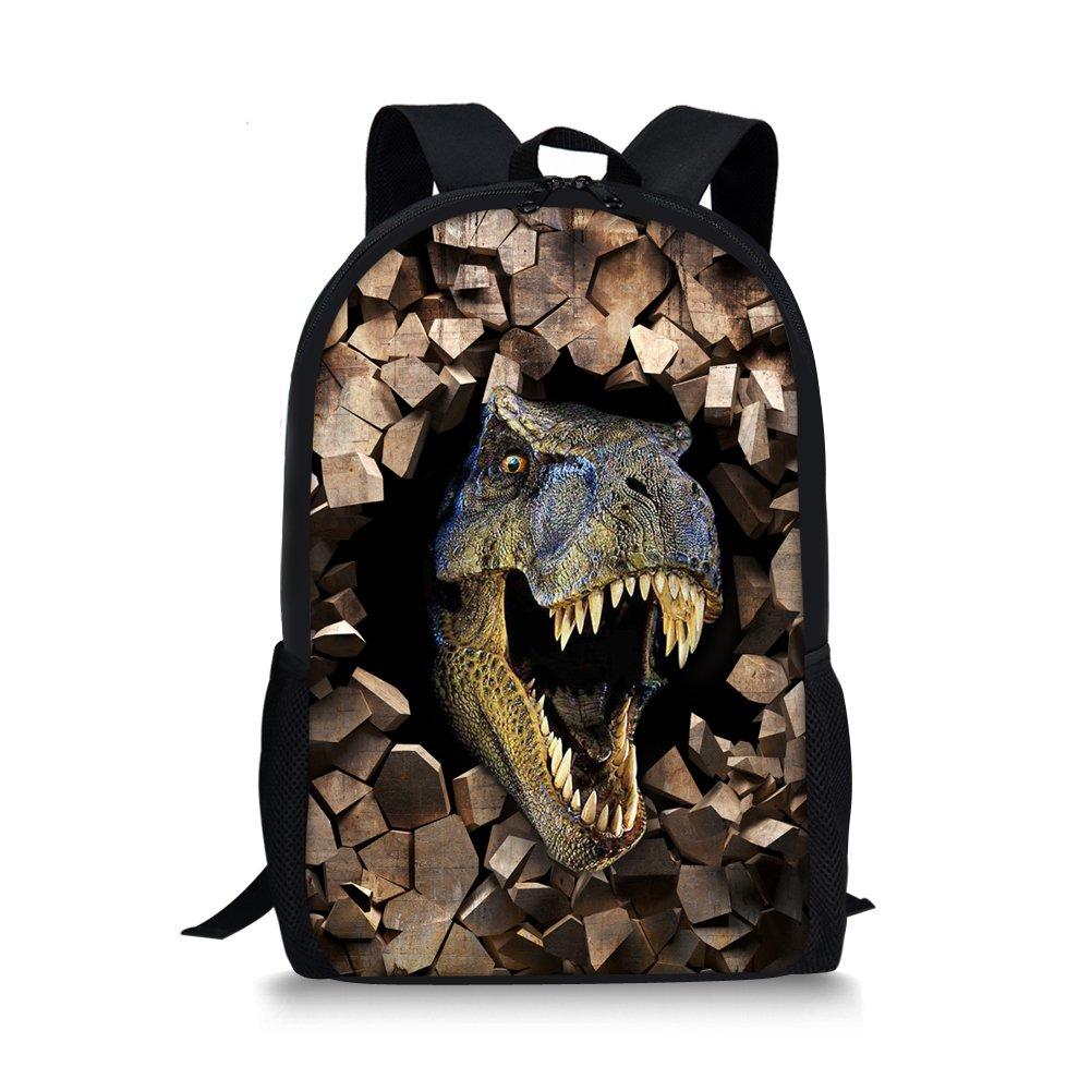 summeridea Cool 3d動物恐竜子供学校ブックバッグKids印刷バックパック  dinosaur 1 B073V2WV96