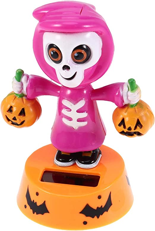 Solar Powered Dancing Pumpkin Doll Dancer Swing Toy Car Home Party Decoration